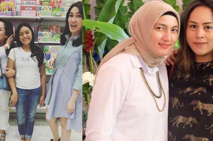 Alleia (kaus putih, bawahan denim) dan Sarah (memakai hijab)