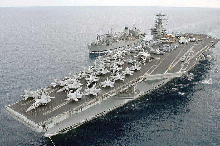 Kapal induk USS Harry S Truman dikabarkan sudah diperintahkan untuk merapat ke Timur Tengah.