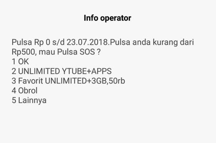 Pulsa Indosat cepat habis
