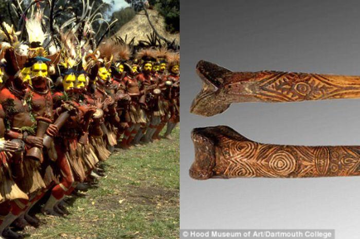 Masyarakat Papua Nugini dan belati dari tulang