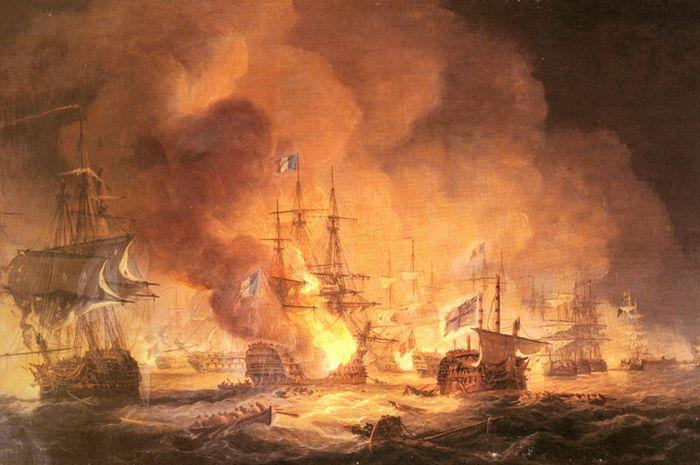 Ilustrasi berlangsungnya Battle of The Nile