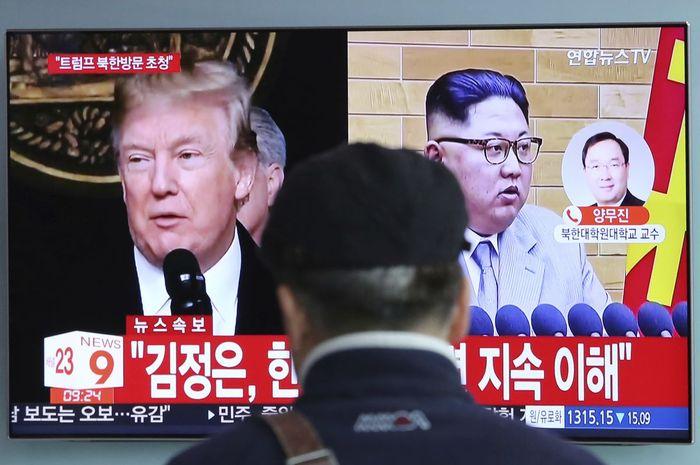 Pernyataan penghentian nuklir Korut dan tanggapan Trup