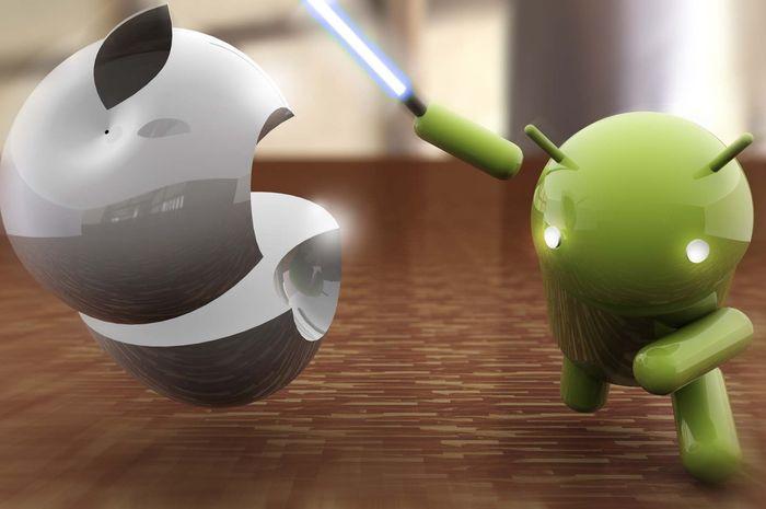 Ilustrasi iOS vs Android