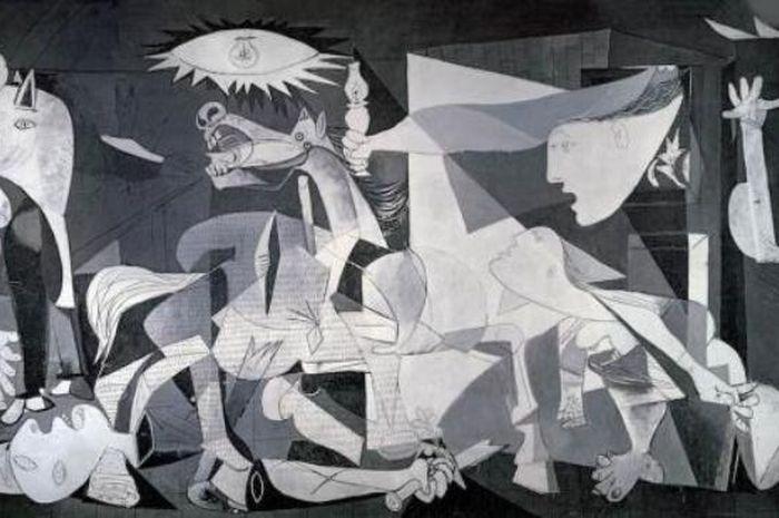 Lukisan Guernica kaya Pablo Picasso yang terinspirasi dari kekejaman perang di Spanyol.