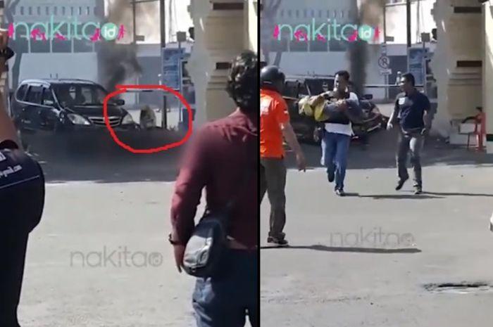 Video Detik-detik Anak Terduga Pelaku Bom Polretastabes Diselamatkan Polisi