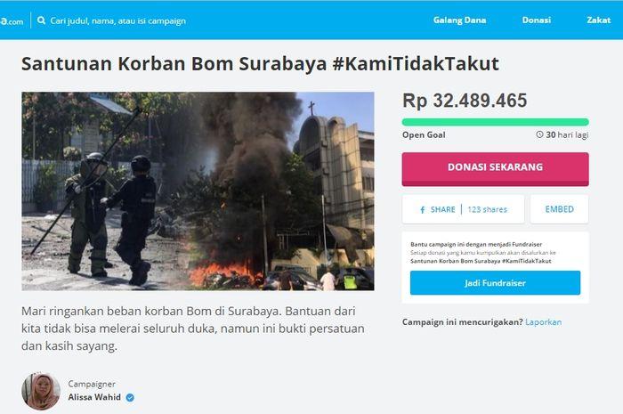 Donasi untuk Korban Aksi Terorisme di Surabaya
