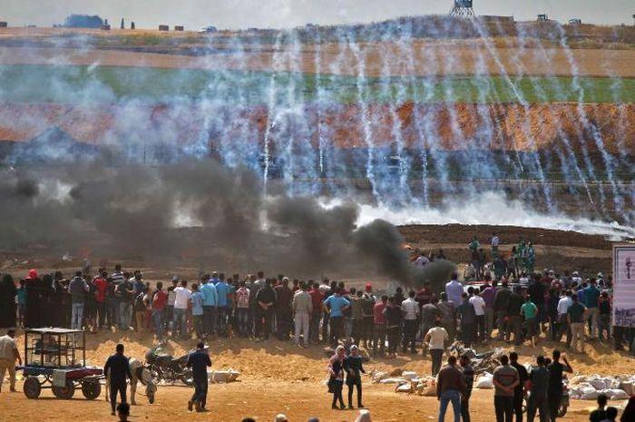 Protes Gaza.
