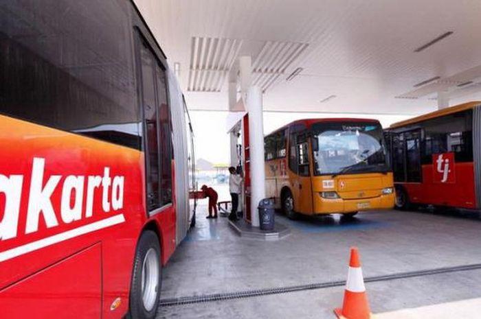 Ilustrasi busway PT TransJakarta