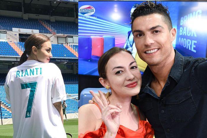 Rianti Cartwright foto bareng Cristiano Ronaldo