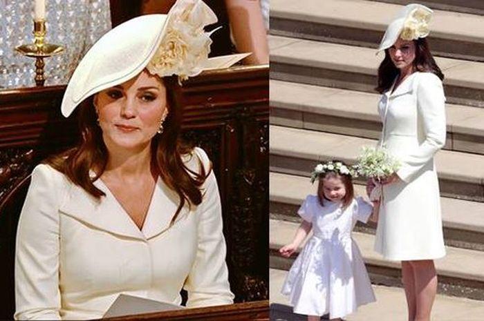 Untuk keempat kalinya Kate Middleton memakai busana yang sama saat pernikahan Pangeran Harry dan Meghan