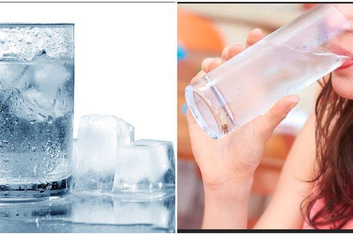 ilustrasi minum air dingin