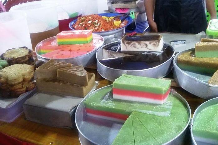 Pasar wadai di Palangkaraya, Kalimantan Tengah