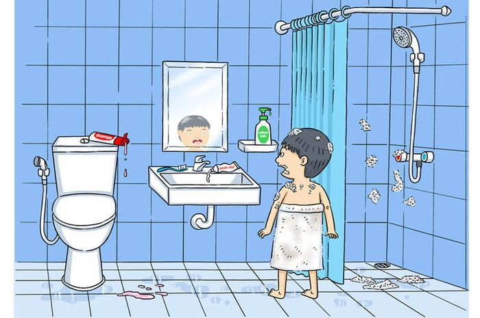 Kebiasaan mandi yang harus dihindari