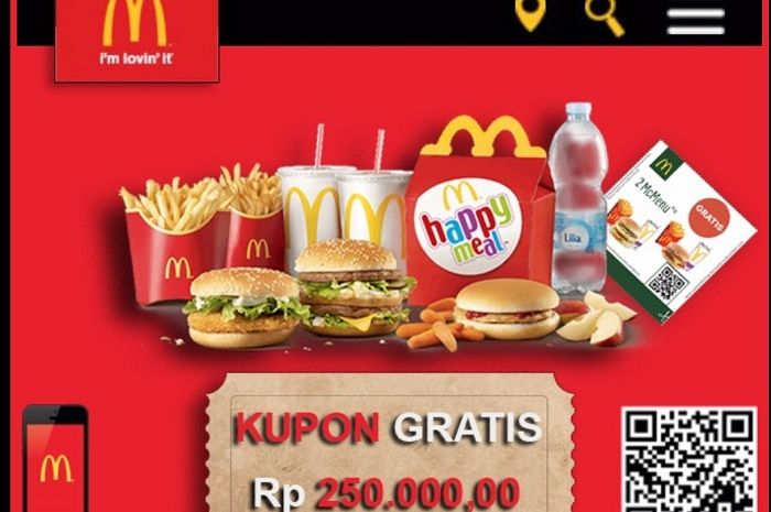 Hoax Kupon Gratis McDonald's, Jangan Asal Klik Promo, Bisa ...
