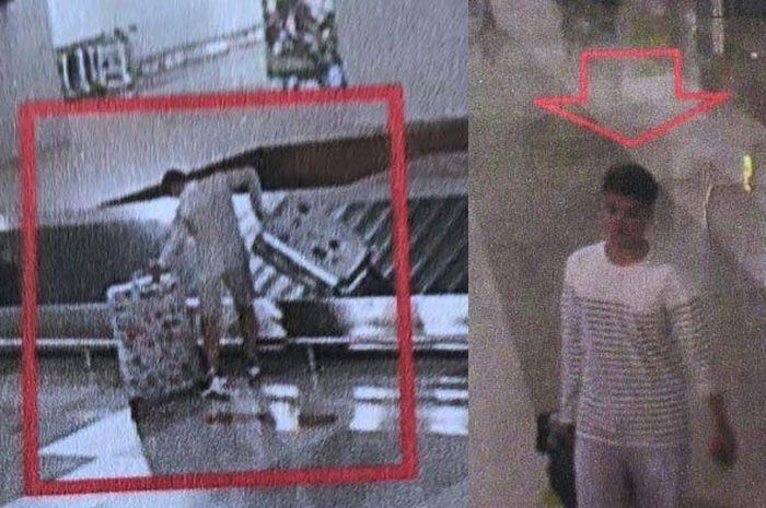 Rekaman CCTV remaja pencuri koper di Bandara