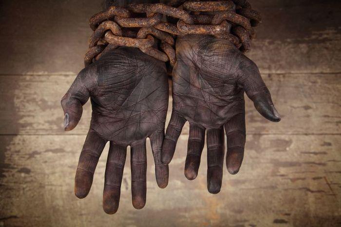 Ilustrasi perbudakan di Afrika.