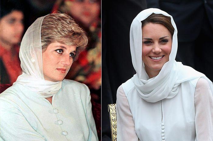 Putri Diana dan Kate Middleton