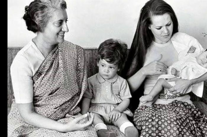 Indira Gandhi dan keluarga