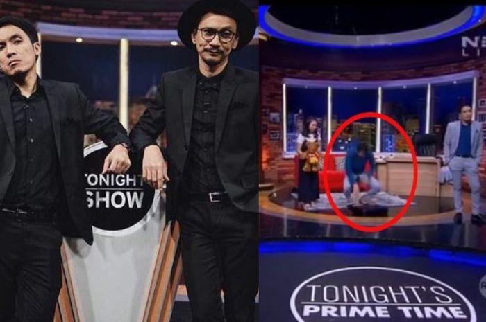 Desta dan Vincent memandu acara Tonight's Show