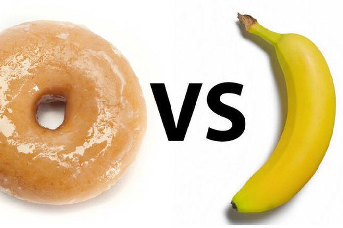 Kandungan gula dalam pisang lebih besar dibandingkan donat