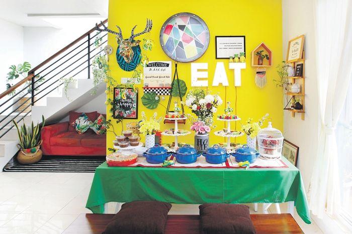 Ilustrasi penataan meja makan