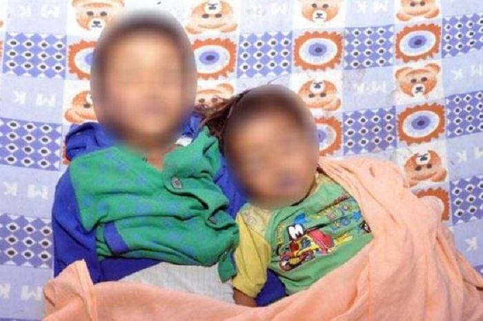 Dua anak yang tewas ditangan ayah dan neneknya.