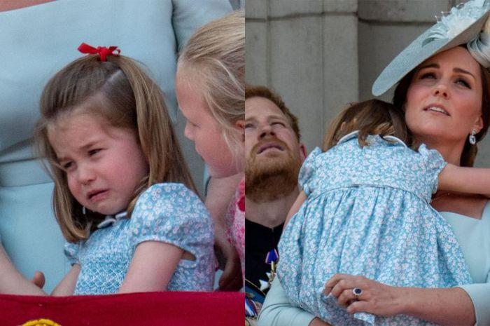 Putri Charlotte jatuh dan menangis dalam acara ulang tahun Ratu Elizabeth