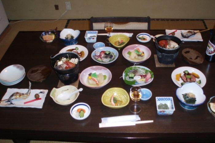 Hidangan kaiseki, betul-betul sehat dan memesona.