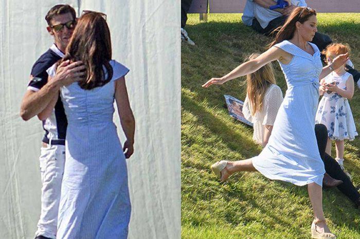 Malcolm Borwick menjadi alasan Kate Middleton bergegas lari menuruni bukit meski menggunakan dress dan wedges di