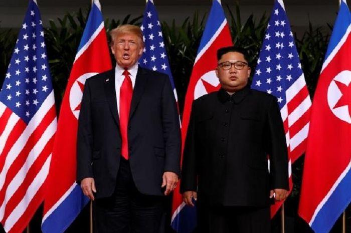 Pertemuan Presiden Trump dan Presiden Kim di Singapura.