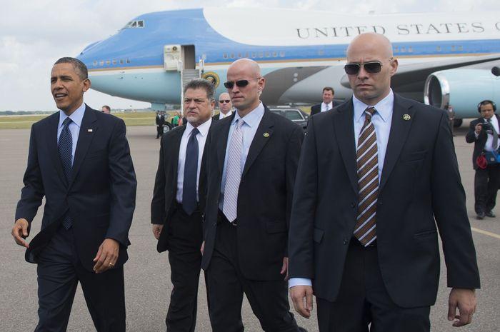 Secret Service ketika mengawal Presiden Obama