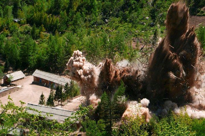 Situs uji coba nuklir Korut, Punggye-ri dihancurkan setelah lumpuh akibat bom nuklir