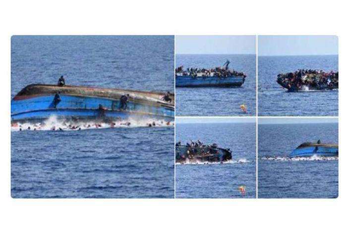 Foto-foto hoaks kapal tenggelam.