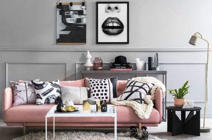 inspirasi sofa warna pink | dok. tlcinteriors.com.au