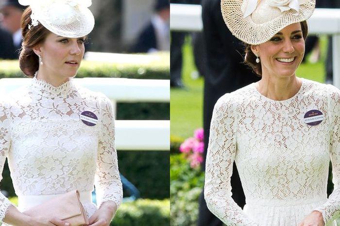 Kate Middleton saat menghadiri Royal Ascot tahun 2017 dan 2016