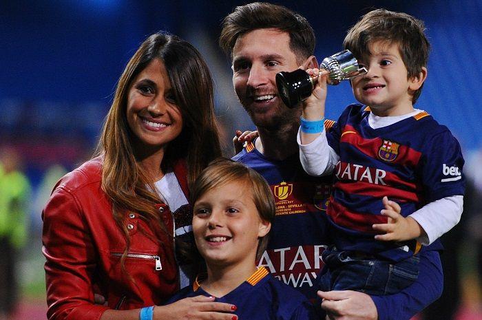 Antonella Roccuzzo, istri dari pemain Argentina Lionel Messi yang kerap jadi sorotan publik.