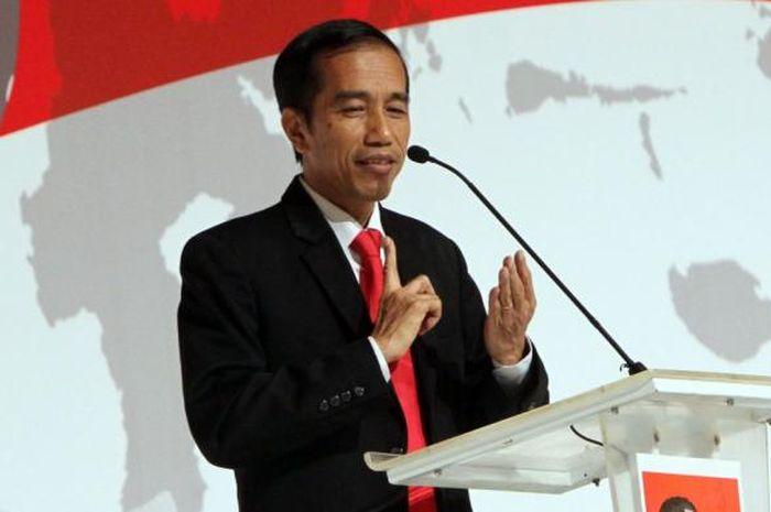 Jokowi berpidato