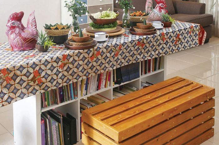 Inspirasi desain meja makan etnik tradisional