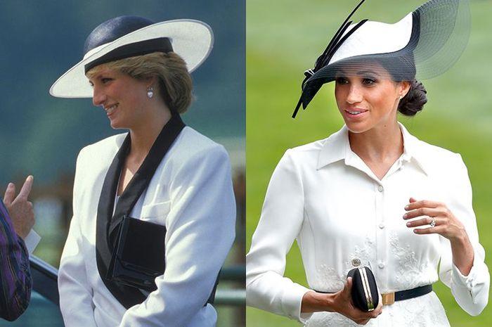 Putri Diana dan Meghan Markle.