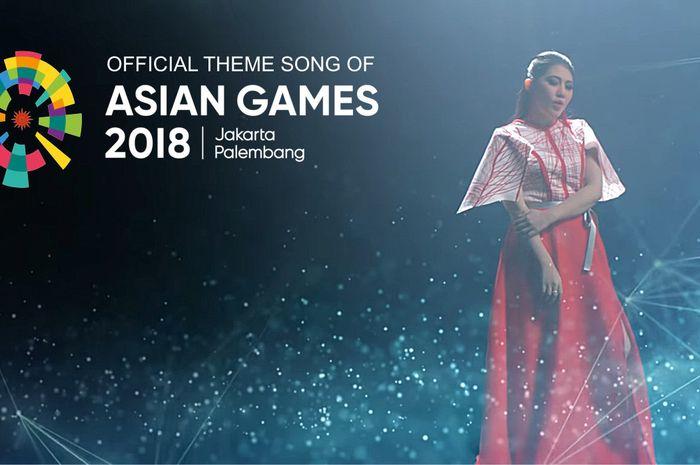 Via Vallen menyanyikan Official Theme Song Asian Games 2018, Meraih Bintang.