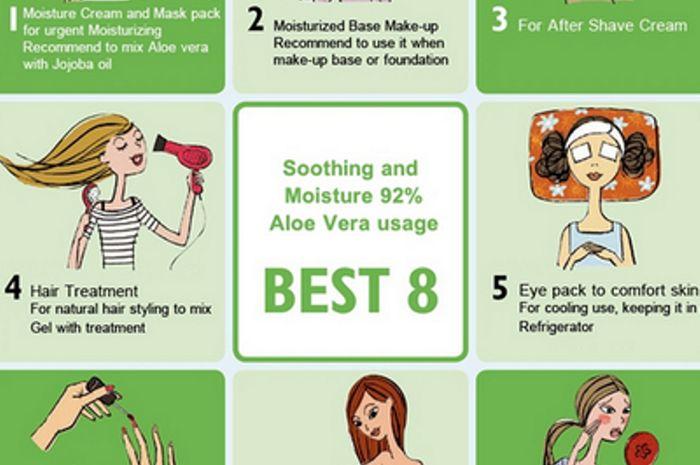 8 cara lain penggunaan aloe vera