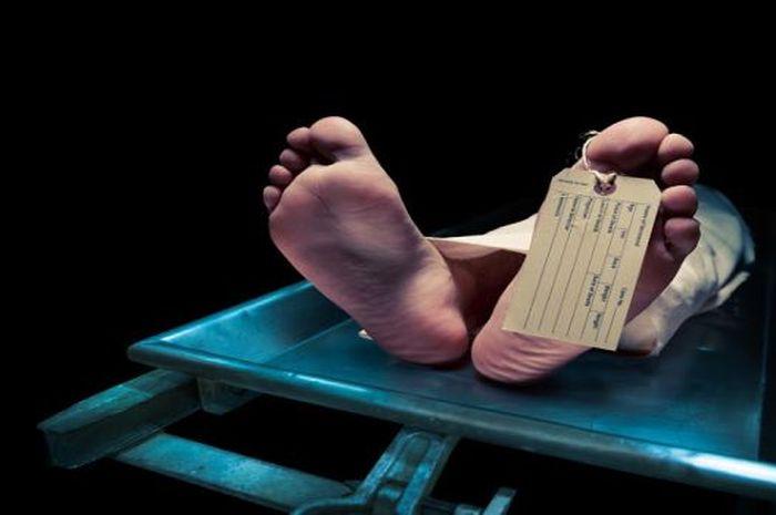 Ilustrasi mayat di kamar mayat.