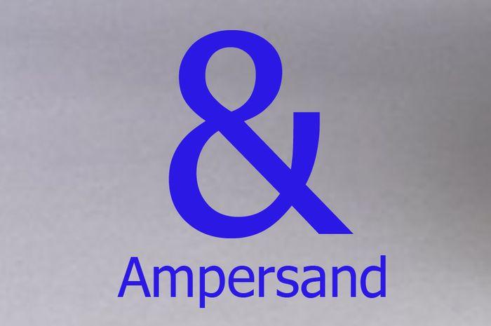 Tanda baca & dibaca ampersand.