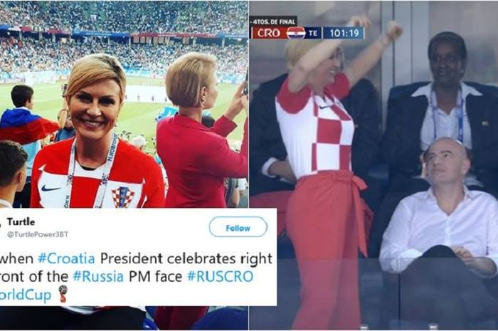 Presiden Kroasia hadiri pertandingan timnya