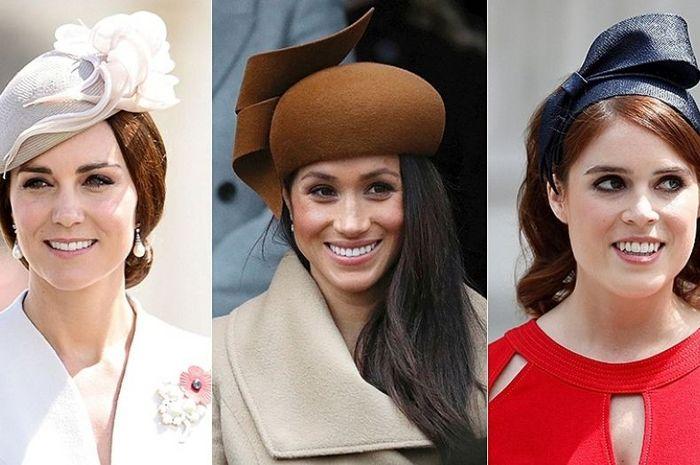 Kate Middleton, Meghan Markle, dan Putri Eugenie.