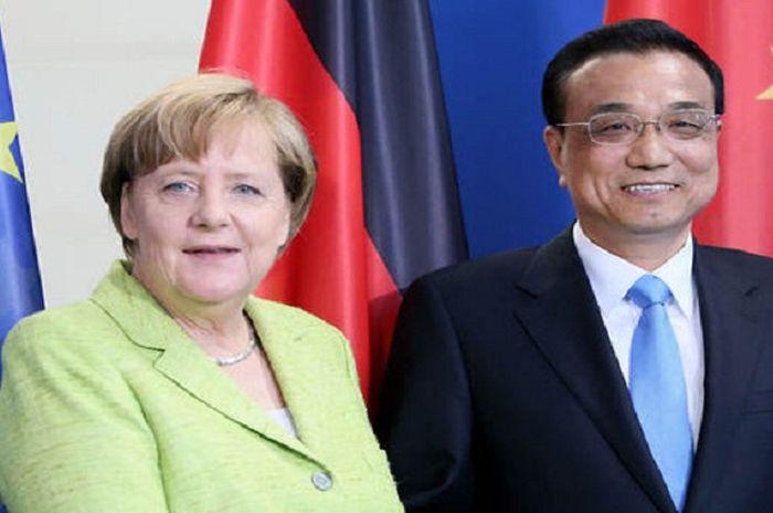 Angela Markel dan Li Keqiang
