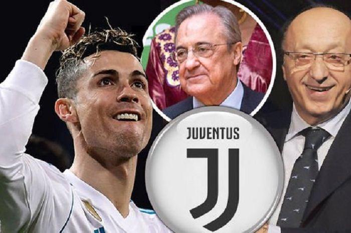 Ronaldo, Florentino Perez, dan Luiciano Moggi (Juventus).
