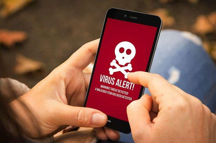 Ilustrasi virus smartphone.