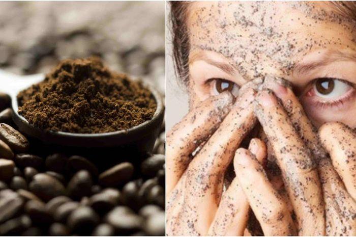 Cuci muka dengan campuran kopi dan susu