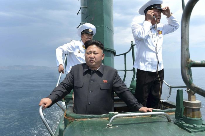 Kim berada di kapal selam Korut